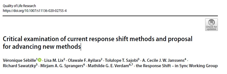 Critical examination of current response shift methods and proposal for advancing new methods